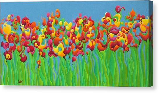 Blazing Blossom Bash Canvas Print