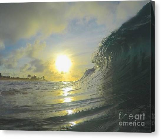 Bodyboard Canvas Print - Blazing Curl  by Benen  Weir