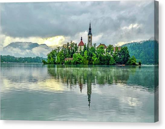 Bled At Sunrise Canvas Print
