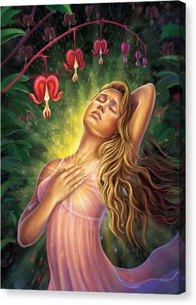 Bleeding Heart - Heal The Heart Canvas Print