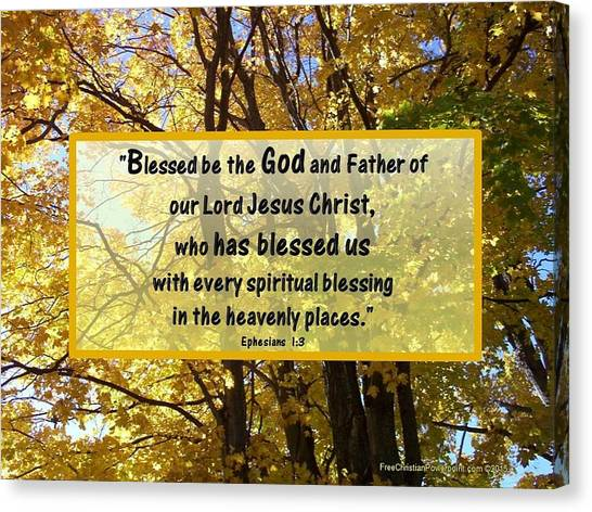 Canvas Print featuring the photograph Blessed Be God by Sonya Nancy Capling-Bacle