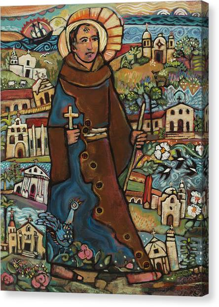 Mission Canvas Print - Blessed Junipero Serra by Jen Norton