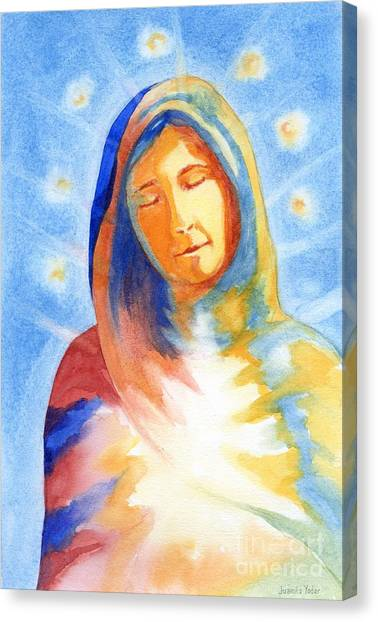 Blessed Mother Canvas Print by Juanita Yoder