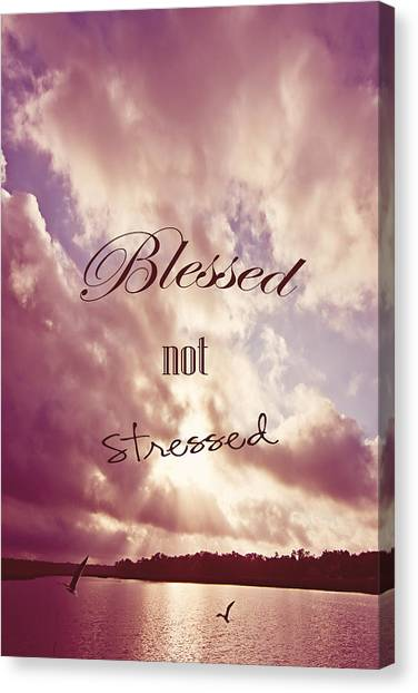 Water Birds Canvas Print - Blessed Not Stressed by Joan McCool