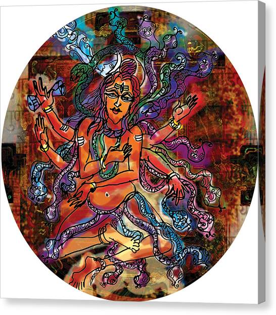 Blessing Shiva Canvas Print