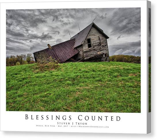 Blessings Counted Canvas Print by Steven Tryon