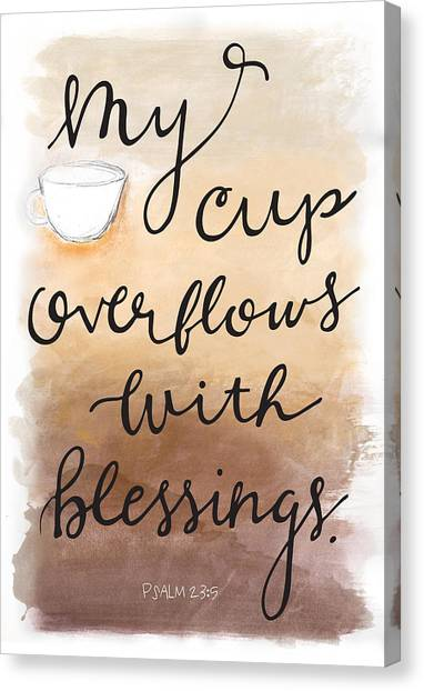 Canvas Print featuring the mixed media Blessings by Nancy Ingersoll