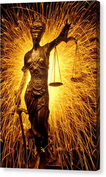 Weights Canvas Print - Blind Justice  by Garry Gay