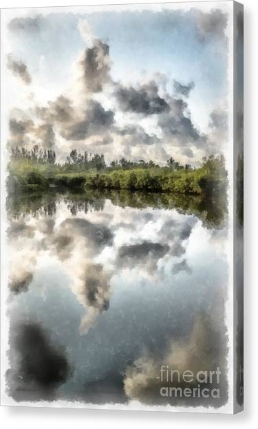 Bayous Canvas Print - Blind Pass Bayou Sanibel Island Florida by Edward Fielding