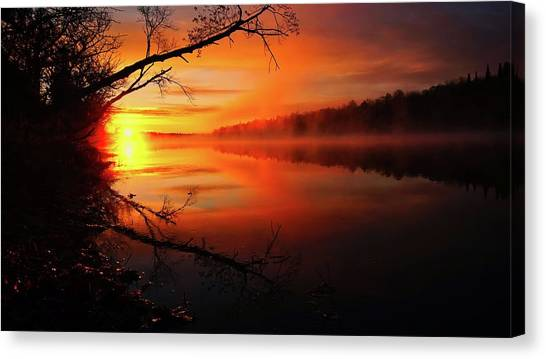 Blind River Sunrise Canvas Print