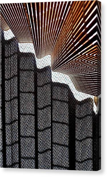 Blind Shadows Abstract I Canvas Print