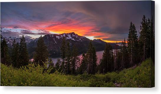Lake Sunsets Canvas Print - Blinding Light by Brad Scott