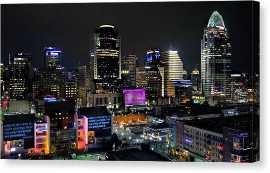Blink Cincinnati - Skyline  Canvas Print