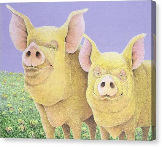 Pig Farms Canvas Print - Bliss by Pat Scott