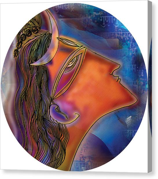Bliss Shiva Canvas Print