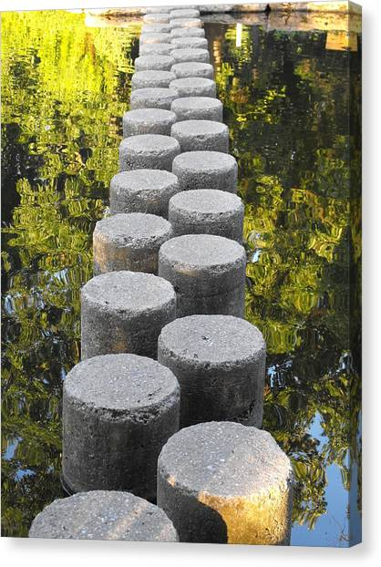 Blissful Path Of Tranquility Canvas Print