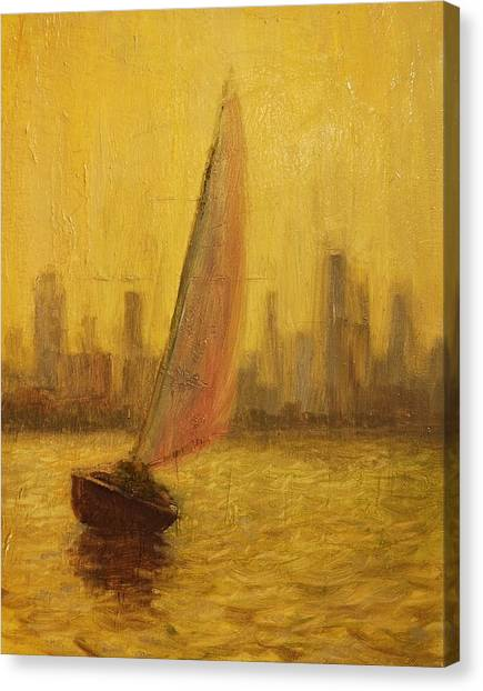 Blissful Sail Canvas Print