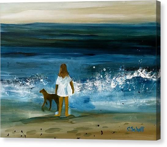 Blissful Sea Canvas Print