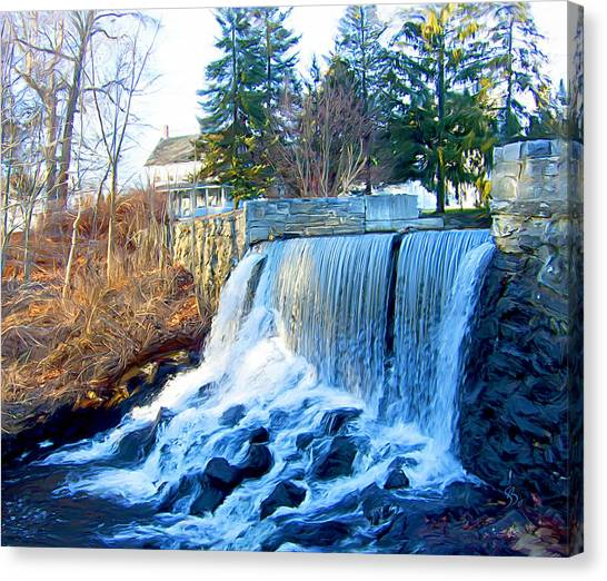 Blissville Falls Canvas Print