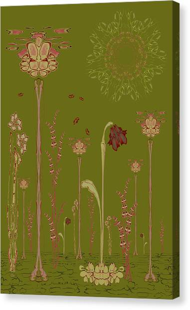 Blob Flower Garden Full View Canvas Print