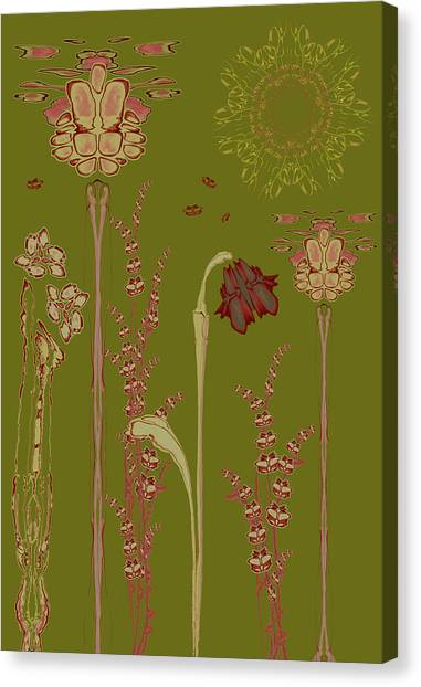 Blob Flower Garden Canvas Print
