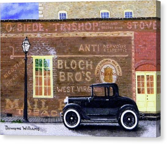 Bloch's Wall Canvas Print