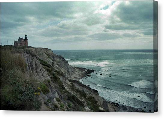 Rhode Island Canvas Print - Block Island South East Lighthouse by Skip Willits