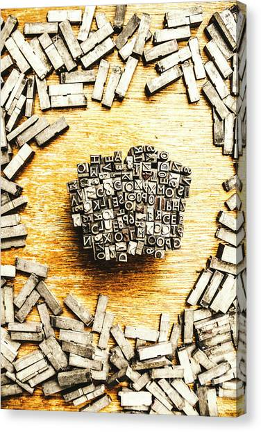 Printers Canvas Print - Block Of Communication by Jorgo Photography - Wall Art Gallery
