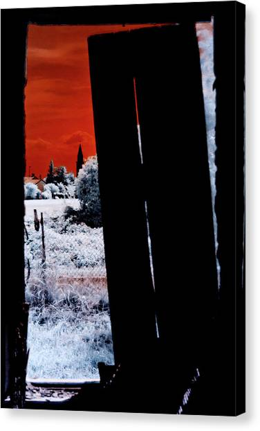 Blood And Moon Canvas Print