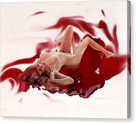 Blood Bath Canvas Print
