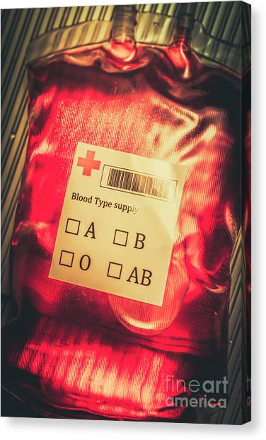 Medicine Canvas Print - Blood Donation Bag by Jorgo Photography - Wall Art Gallery