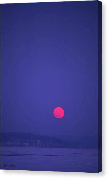 Blood Moon - Cedar Point - Lake Geneva Wisconsin Canvas Print