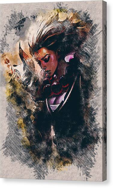 Resident Evil Canvas Print - Blood Moon Diana by Dusan Naumovski