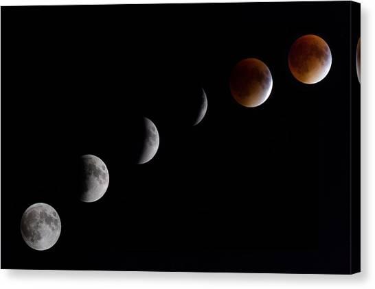 Blood Moon Lunar Eclipse Canvas Print
