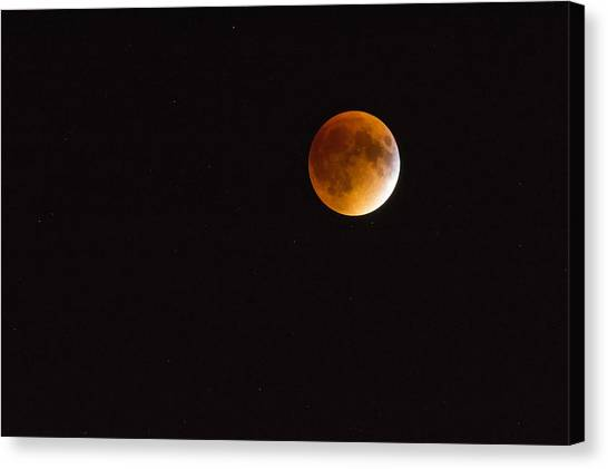 Blood Moon Luna Eclipse Canvas Print
