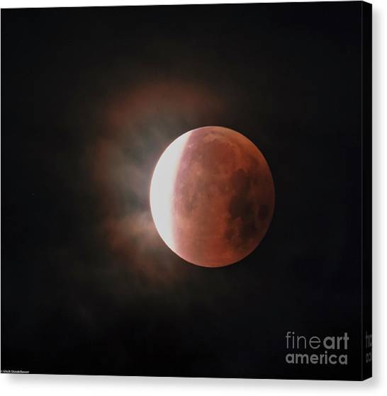 Blood Moon Canvas Print - Blood Moon   by Mitch Shindelbower
