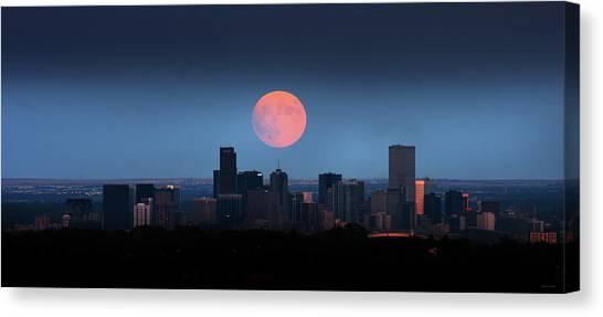 Blood Moon Over Denver Canvas Print