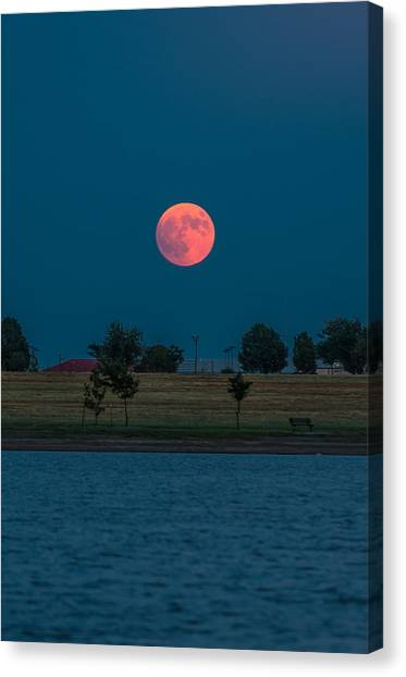 Blood Moon Rising Canvas Print