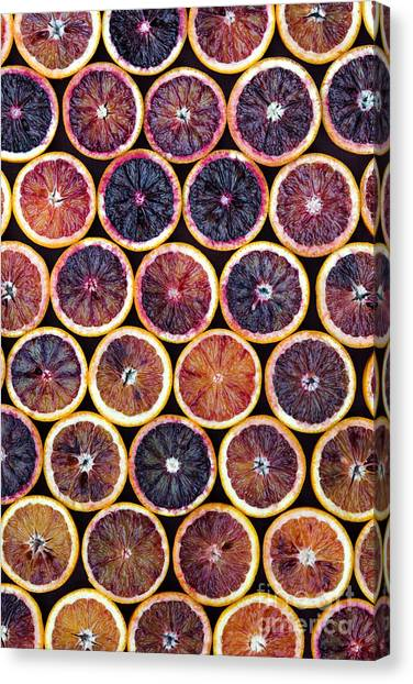 Fruit Canvas Print - Blood Oranges Pattern by Tim Gainey