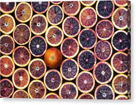 Vegetable Garden Canvas Print - Blood Oranges by Tim Gainey