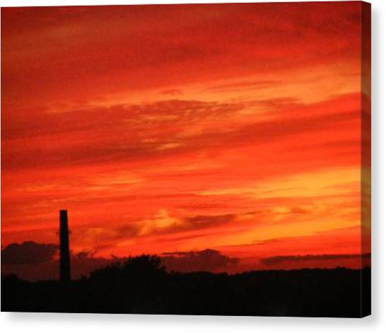 Blood-red Sky Canvas Print