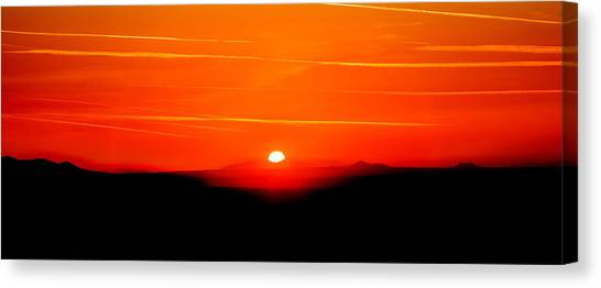 Sunrise Horizon Canvas Print - Blood Red Sunset by Az Jackson