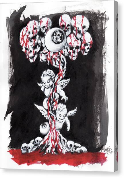 Bloody Angels Canvas Print by Miguel Karlo Dominado