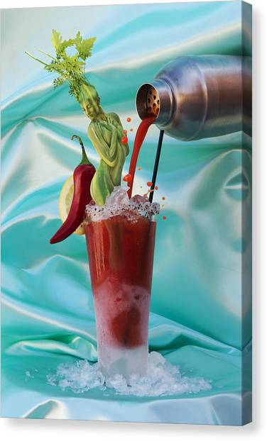 Bloody Mary Canvas Print - Bloody Mary Cocktail by Filippo Ioco