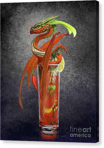 Bloody Mary Canvas Print - Bloody Mary Dragon by Stanley Morrison