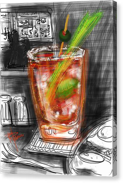 Bloody Mary Canvas Print - Bloody Mary by Russell Pierce