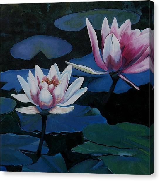 Bloom Moon Canvas Print by Joan Cookson