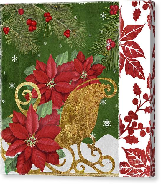 Amaryllis Canvas Print - Blooming Christmas I by Mindy Sommers