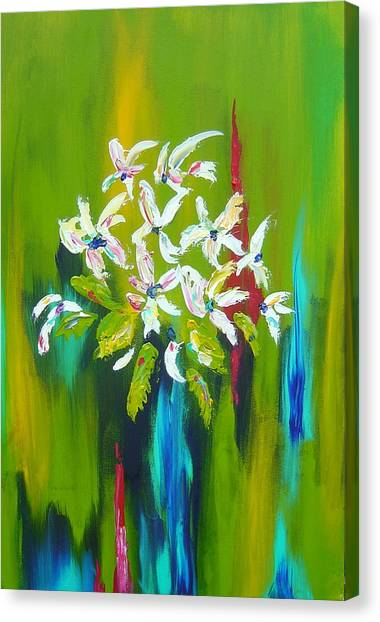 Blooming Glory Canvas Print by Nicole Lee