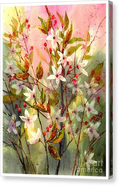 Wind Farms Canvas Print - Blooming Magical Gardens I by Suzann's Art